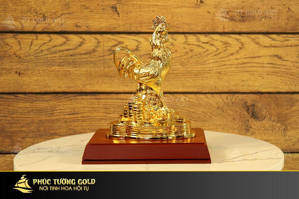 Quà tặng gà mạ vàng 24k sang trọng tại Phúc Tường Gold