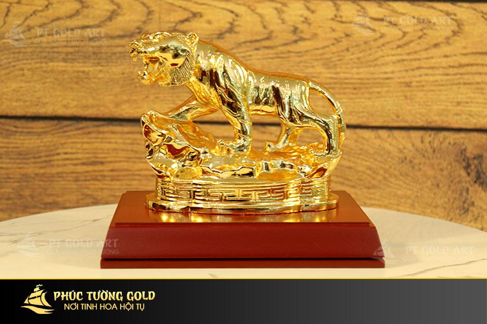 Bạn đã biết tượng hổ mạ vàng có gì độc đáo ?