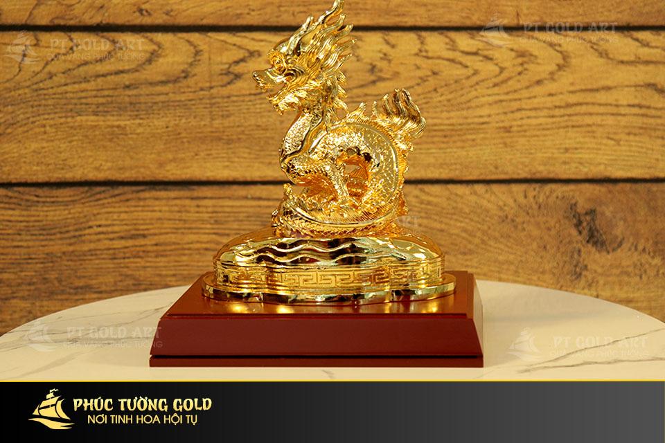 Quà tặng đối tác ý nghĩa: Rồng vàng phong thủy